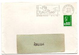 LOIRE ATLANTIQUE - Dépt N° 44 = GUEMENE PENFAO 1975 = FLAMME Type II =  SECAP  Illustrée  'PECHE CAMPING PISCINE' - Postmark Collection (Covers)