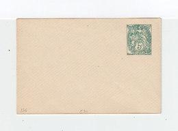 Enveloppe Entier Postal Type Blanc 5 C. Vert 1924. Date 530. Format 105X70. (1060x) - Entiers Postaux