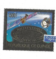 COMETE DE HALLEY 1985-1986 REPUBLIQUE DE GUINÉE FEUILLE D'OR - Astronomie