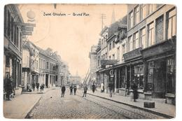 Saint Ghislain Grand Rue Animée édit Riche Boland Desaix 1921 - Saint-Ghislain