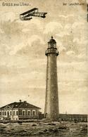 LIEPAJA  LIBAU  Léttonie  Le Phare ( Pli En Haut à Droite) Carte De 1916 - Lettonie