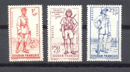 Soudan Français - N°122 à 124 Neufs * Avec Trace De Charnière - C: 4,50 € - Soudan (1894-1902)