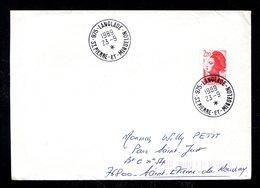 SAINT PIERRE MIQUELON Lettre Au Tarif 2,20 Marianne Surchargée LANGLADE 1989 23-9 * Montage Inversé TTB Voyagé 2 Scan - Lettres & Documents