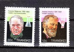 Transkei -1985. Vesalius Anatonomo  E  Magendie Farmacologo.Vesalius Anatomy And Magendie Pharmacologist. MNH - Medicina