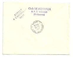 LOIRE ATLANTIQUE - Dépt N° 44 = HERIC  1967 = RETOUR ENVOYEUR N° 6142  Sur Préo N° 124 + Cachet A8 - Manual Postmarks