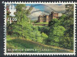 Royaume Uni 2016 Oblitéré Used Alnwick Castle Jardins Paysagers Capability Brown SU - 1952-.... (Elizabeth II)