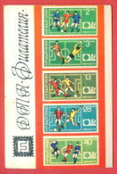 K741 / 1975  STAMPS SPORT World Cup Soccer Fussball Calcio Championship, Munich  Calendar Calendrier Kalender Bulgaria - Calendriers