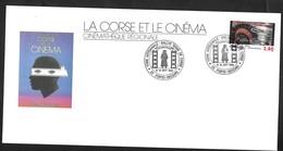 Corse . La Corse Et Le Cinéma . Porto Vecchio 1995. - Marcophilie (Lettres)