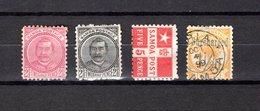 Samoa  1892-1900 .-   Y&T  Nº   17/18-21-22 - Samoa