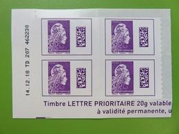 Timbre France YT 1656 AA - Coin Daté - Marianne D'Yseult Digan - L'engagée - Autocollant - International - Neuf - 2019 - 2010-....