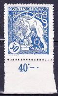 Tchécoslovaquie 1919 Mi 36 (Yv 41 B), (MNH)** - Ungebraucht