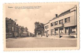 Tiegem Zicht Op De Gemeenteplats Naar West Vue Sur La Place Communale Ouest Bon état 1951 Vandendriessche Michel - Anzegem