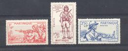 Martinique - N° 186 à 188 Neufs * - Martinique (1886-1947)