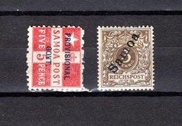 Samoa  1899-1900 .-   Y&T  Nº   32-36 - Samoa
