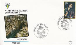 Spagna (1982) - Busta Ricordo Del Viaggio Del Papa Giovanni Paolo II - 1931-Oggi: 2. Rep. - ... Juan Carlos I