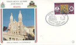 Haiti (1983) - Busta Ricordo Del Viaggio Del Papa Giovanni Paolo II - Haiti