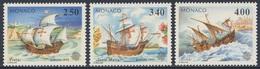 Monaco 1992 Mi 2070 /2 YT 1825 /7 SG 2082 /4 / ** Pinta + Santa Maria + Niña - Columbus - Discovery America/ Entdeckung - Schiffe
