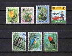 Samoa  1983-88 .-   Y&T  Nº   538-543-557-645-658-660-664 - Samoa