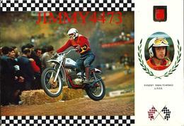CPM - SPORT MOTO CROSS 1975 - CZ CHECA 92 Kgs - Edit. ESCUDO DE ORO N° 11 - Scans Recto-Verso - Sport Moto