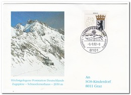 Duitsland 1992, Highest Post Office In Germany - Post