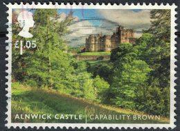 Royaume Uni 2016 Oblitéré Used Alnwick Castle Jardins Paysagers Capability Brown SU - 1952-.... (Elisabeth II.)