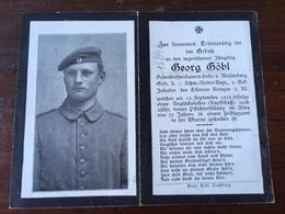 Sterbebild Wk1 Ww1 Bidprentje Avis Décès Deathcard 1. Schwere Reiter Regiment Unglücksfall Kopfschuss Aus Maisenberg - 1914-18