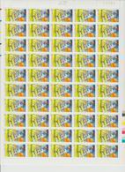 Faciale 23 Eur ; Feuille De 50 Tbs à 3Fr N° 3172 (cote 70 Euro) - Ganze Bögen