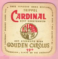 Bierviltje - Trippel Cardinal Echt Gerstenwijn - Gouden Carolus 19° - Portavasos