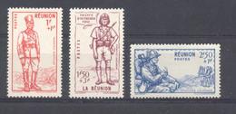 Réunion - N° 175  à 177 Neufs * Avec Trace De Charnière - Réunion (1852-1975)