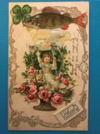 Belle Carte De Poisson D'avril Avec Decoupis Et Ajoutis - Mechanical