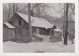 Foto Bauernhaus Im Winter - Aufgehängte Bettwäsche - Russland - Ca. 1940 - 8*5cm (39143) - Lieux