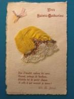 Carte Brodee - Bonnet De Sainte Catherine - Brodées