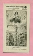 CALENDRIER DE POCHE 1944 : SAINTE THERESE DE L'ENFANT JESUS - COUDEKERQUE BRANCHE Prés DUNKERQUE - Calendarios
