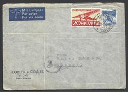 Switzerland, Air Mail Letter, Censored By Hungarian Authorities, 1944. - Schweiz