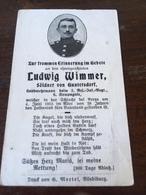 Sterbebild Wk1 Ww1 Bidprentje Avis Décès Deathcard RIR2 FRICOURT HARDECOURT 4. Juni 1915 Aus Guntersdorf - 1914-18