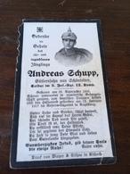 Sterbebild Wk1 Ww1 Bidprentje Avis Décès Deathcard IR3 V. Deutschen Befreit Aus Rumänischer Gefangenschaft Augsburg - 1914-18