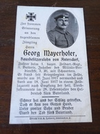 Sterbebild Wk1 Ww1 Bidprentje Avis Décès Deathcard FAR1 SISSONNE Block 5 Grab 805 Aus Antersdorf - 1914-18