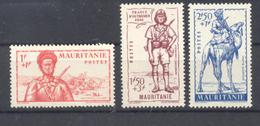 Mauritanie - N° 116  à 118 Neufs * Avec Trace De Charnière - Mauritanie (1906-1944)