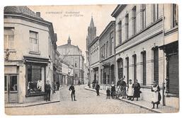 Wetteren Kerkstraat Rue De L'église Zeldzaam Rare 1920 Photo De Ryckel Uitg Pauw Matthys - Wetteren