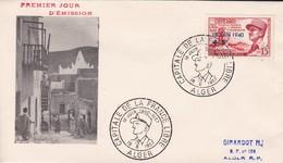 ALGERIE , FDC Enveloppe 1er Jour  : Yt 345, Obl Alger 18/06/1957 , Maréchal LECLERC , Capitale De La France Libre , - Algérie (1924-1962)