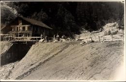 Photo Cp Berchtesgaden In Oberbayern, Überschwemmung, Notbrücke, Gasthaus - Other