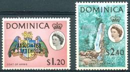 Dominique - 1968 - Yt 220/221 - Association Avec La Grande Bretagne - *  Charnière - Dominique (...-1978)