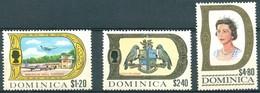 Dominique - 1969 - Yt 279/281 - Série Courante - *  Charnière - Dominique (...-1978)