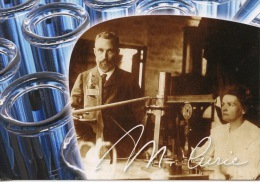 """Marie Curie Laboratoire """"dans La Vie, Rien N'est à Craindre Tout Est à Comprendre"""" - Cp Vierge - Prix Nobel"""