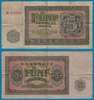 DDR Banknote 5 Mark 1955 Ros. 349a F (4)   (20950 - [ 6] 1949-1990: DDR - Duitse Dem. Rep.