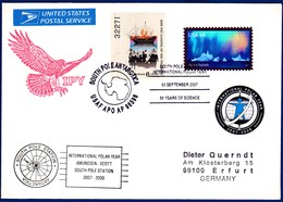 """IGY, USA, Cover , """"South Pole"""",2007, 2 Cachets + Vignette !! Look Scan !! 17.11.116 - Stamps"""