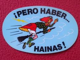 SPAIN CROMO OLD COLLECTIBLE CARD O SIMILAR BRUJA BRUJAS EN ESCOBA PERO HABER HAINAS GALICIA ? WITCH HEXE SORCIÈRE VER FO - Cromos