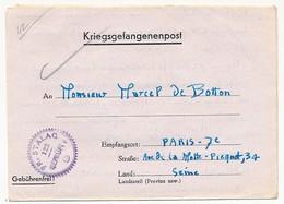 FRANCE - Courrier Depuis Le FRONT-STALAG 122 De COMPIEGNE - Geprüft 9 (cercle Violet) 1942 - Guerra Del 1939-45