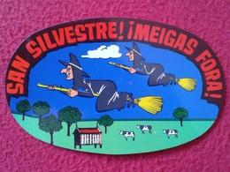 SPAIN CROMO OLD COLLECTIBLE CARD O SIMILAR BRUJA BRUJAS EN ESCOBA SAN SILVESTRE MEIGAS FORA GALICIA WITCH HEXE SORCIÈRE - Sin Clasificación