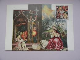 CARTE MAXIMUM CARD  LE RETABLE D'ISSENHEIM PAR GRUNEWALD FRANCE - Arts